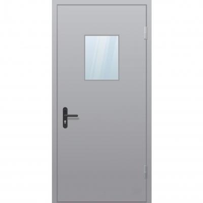 Двери одностворчатые со стеклопакетом