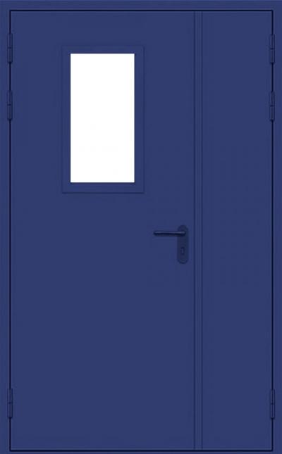 Двери двустворчатые со стеклом армированным