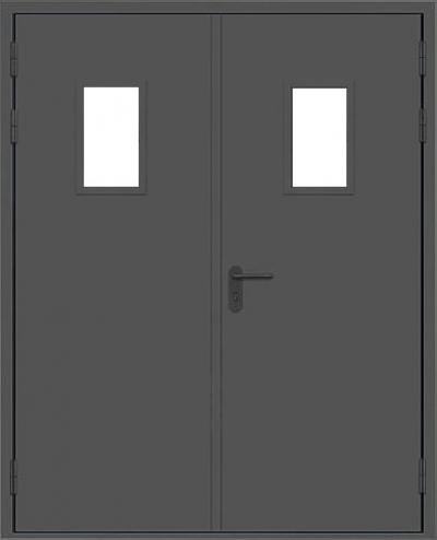 Двери двустворчатые со стеклопакетом